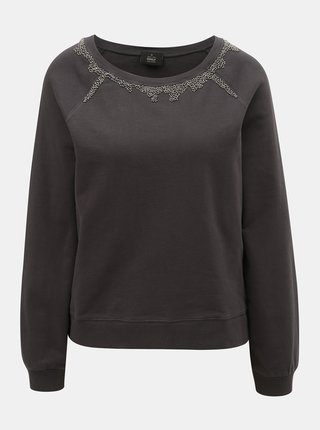 Bluza sport gri inchis cu margele ONLY Nora