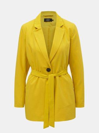 Žlté sako s opaskom ONLY Annya