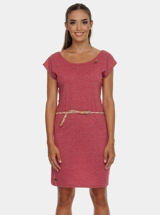 Červené žíhané šaty s pásky na zádech Ragwear Sofia