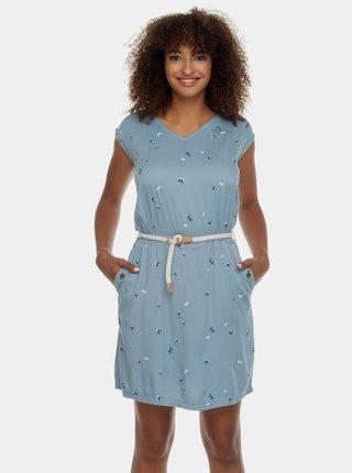 Rochie albastru deschis cu motiv si buzunare Ragwear Carolina