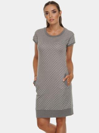 Šedé mikinové puntíkované šaty Ragwear Claire