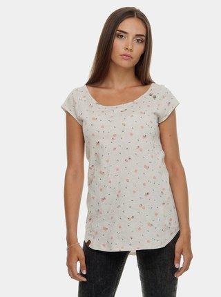 Světle šedé dámské tričko s potiskem Ragwear Rosanna