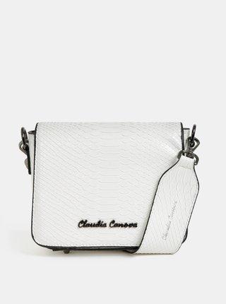 Bílá crossbody kabelka s krokodýlím vzorem Claudia Canova Priti