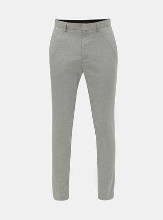 Sivé pruhované super skinny nohavice Burton Menswear London
