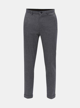 Sivé kockované skinny fit nohavice Burton Menswear London