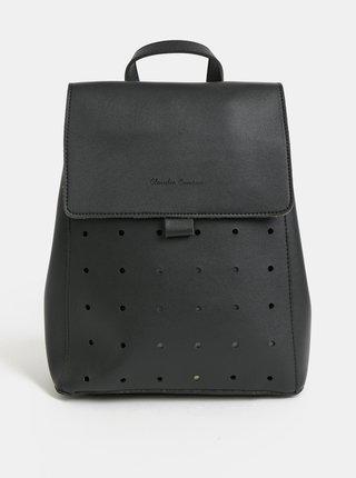 Černý děrovaný batoh Claudia Canova Kalilah