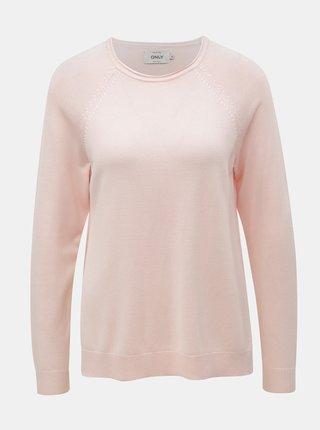 Pulover roz deschis cu taieturi ONLY New