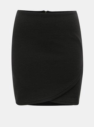 Černá žebrovaná pouzdrová minisukně ONLY Floria