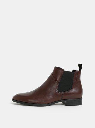 Hnědé dámské kožené chelsea boty Vagabond Frances Sister