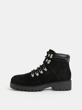 Černé dámské kožené zimní kotníkové boty Vagabond Kenova