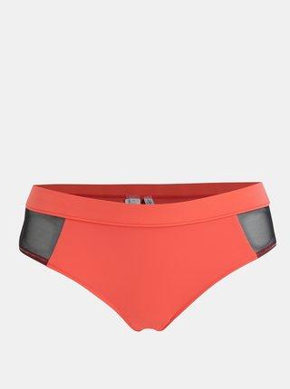 Neónovoružový spodný diel plaviek Calvin Klein Underwear