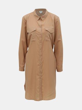 Béžové košeľové šaty Jacqueline de Yong Iben