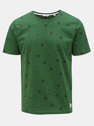 Tricou verde cu imprimeu ONLY & SONS Epus