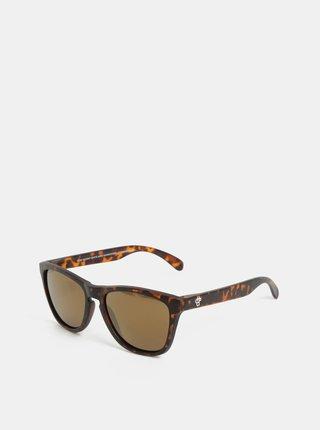 Hnědé vzorované sluneční brýle CHPO Bodhi