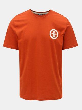 Oranžové tričko s potiskem ONLY & SONS Edward