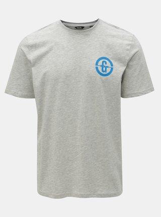 Sivé melírované tričko s potlačou ONLY & SONS Edward