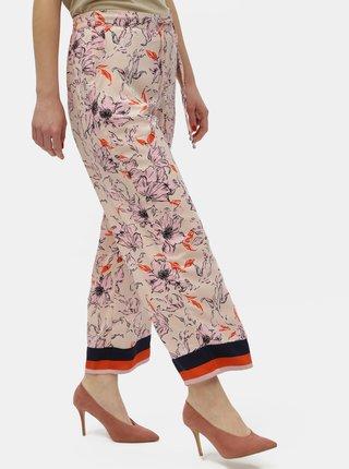 Ružové kvetované nohavice Jacqueline de Yong Yadira