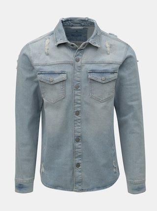 Jacheta albastru deschis din denim ONLY & SONS Lucas