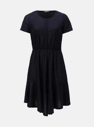 Modré puntíkované šaty ONLY CARMAKOMA Didde