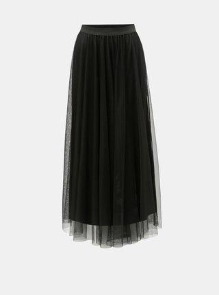 Černá tylová maxi sukně VERO MODA Celisa