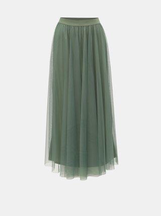 Zelená tylová maxi sukně VERO MODA Celisa