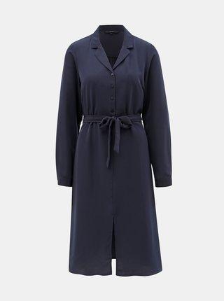 Tmavě modré košilové šaty VERO MODA Camila