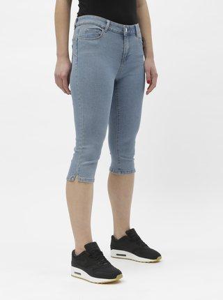 Svetlomodré rifľové 3/4 nohavice VERO MODA Hot Seven