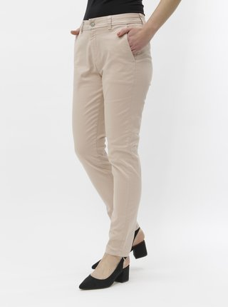 Pantaloni roz deschis chino Selected Femme Megan