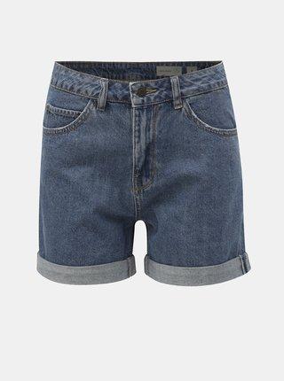 Pantaloni scurti albastri din denim cu talie inalta VERO MODA Nineteen
