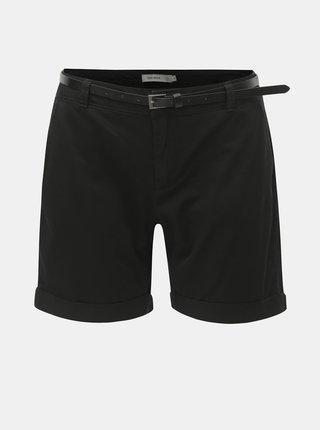 Pantaloni scurti negri cu curea VERO MODA Flash