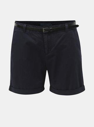 Pantaloni scurti albastru inchis cu curea VERO MODA Flash