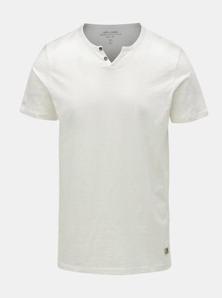 Tricou crem Jack & Jones