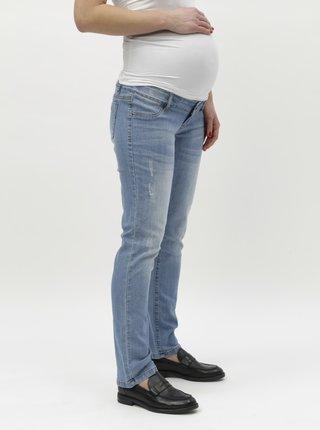 Světle modré těhotenské straight fit džíny Mama.licious Julia