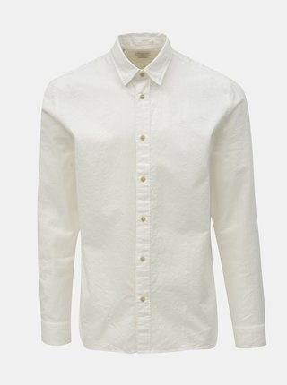 Camasa alba regular fit cu amestec de in Selected Homme Michael