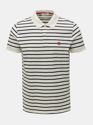 Tricou polo albastru-alb in dungi Selected Homme Haro