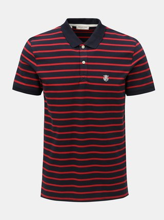 Tricou polo rosu-albastru in dungi Selected Homme Haro