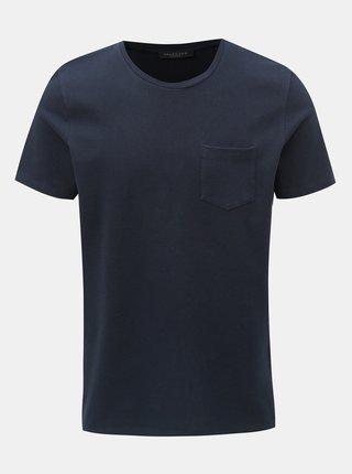 Tricou albastru inchis cu buzunar Selected Homme Wave