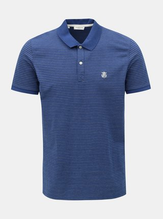 Tricou polo albastru in dungi Selected Homme Haro