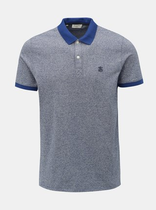 Modré žíhané polo tričko Selected Homme Haro