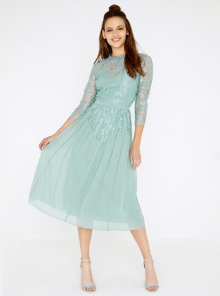 Zelenomodré krajkované šaty Little Mistress