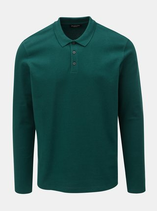 Tricou polo verde inchis Selected Homme Wave
