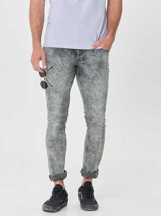 Blugi gri slim fit din denim cu model ONLY & SONS Pun