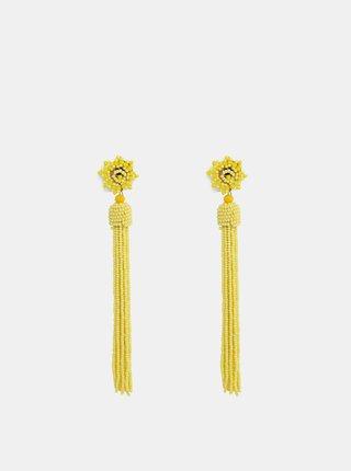 Žluté korálkové náušnice Pieces Bea