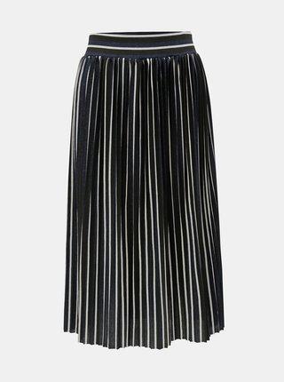 Čierna pruhovaná plisovaná trblietavá sukňa ONLY Hildur