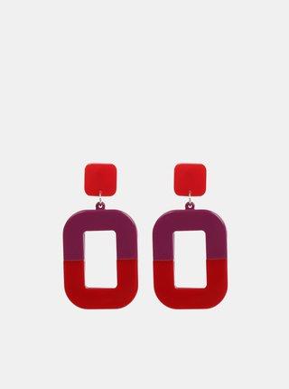 Fialovo–červené náušnice Pieces Fie