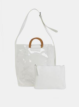 Transparentná kabelka s puzdrom 2v1 Pieces Celisa