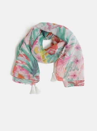Ružovo–krémová kvetovaná šatka Pieces Sibanna