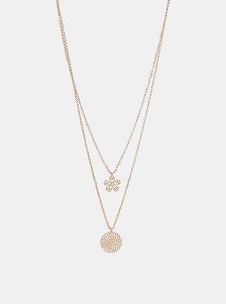 Colier roz-auriu Pieces Serendipity