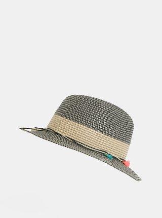 Černo-béžový klobouk Pieces Bevi