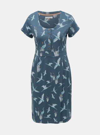 Rochie albastra cu model Brakeburn Heron Placket